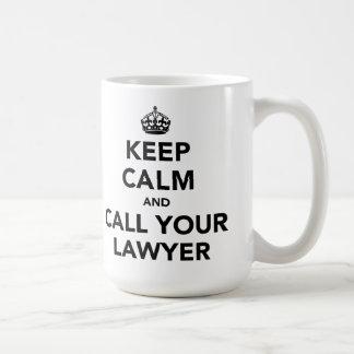 Mug Gardez le calme et appelez votre avocat
