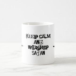 Mug Gardez le calme et buvez avec satan