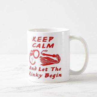Mug Gardez le calme et laissez le libertin commencer