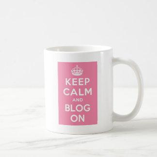Mug Gardez le calme et le blog dessus