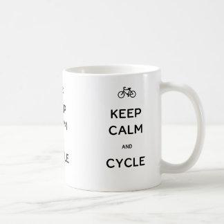 Mug Gardez le calme et le cycle