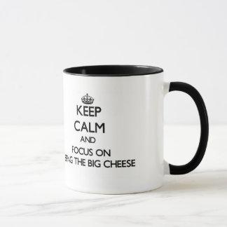 Mug Gardez le calme et le foyer sur être le grand