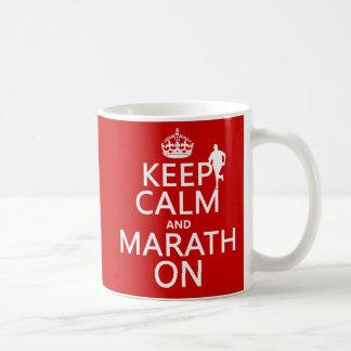 Mug Gardez le calme et le Marath dessus