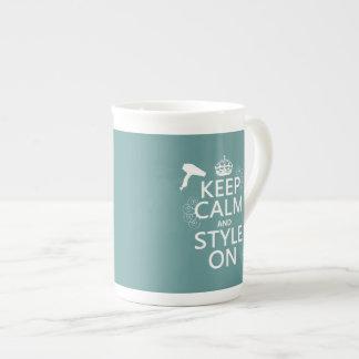 Mug Gardez le calme et le style sur (toute couleur