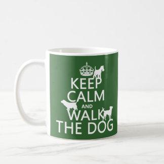 Mug Gardez le calme et marchez le chien - toutes les