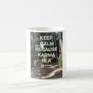 Mug Gardez le calme, karma vient