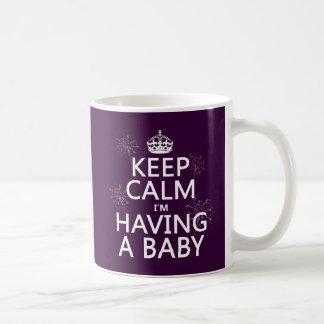 Mug Gardez le calme que j'ai un bébé (toute couleur)