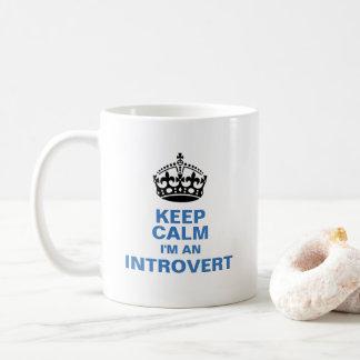 Mug Gardez le calme que je suis un introverti