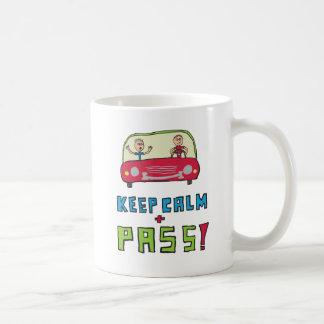 Mug Gardez l'examen de conduite calme