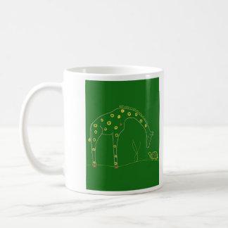 Mug Girafe minimaliste - vert