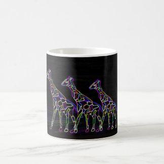 Mug Girafes au néon électriques