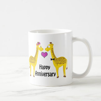 Mug Girafes heureuses d'anniversaire