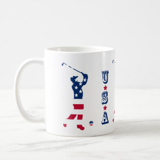 Mug Golfeur de drapeau américain de golf des