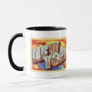 Mug Grande carte postale de voyage de lettre de New