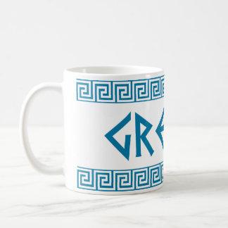Mug Grec des textes de nom de symbole de pays de la