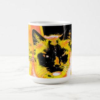 Mug Grincheux au sujet du chat de Halloween