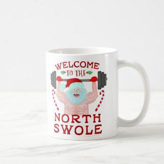 Mug Haltérophile drôle du père noël Swole de Noël