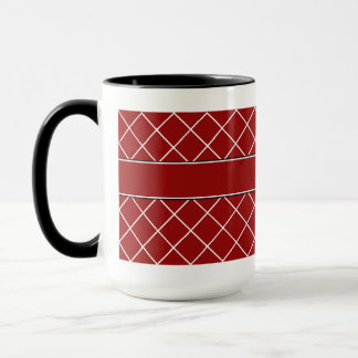 Mug Hommes décorés d'un monogramme de diamant rouge