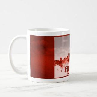 Mug Horizon d'Edmonton avec la grunge rouge