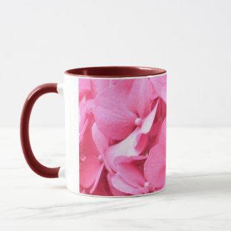 Mug Hortensias roses