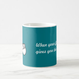 Mug Humour de portable : L'ami vous donne le doigt