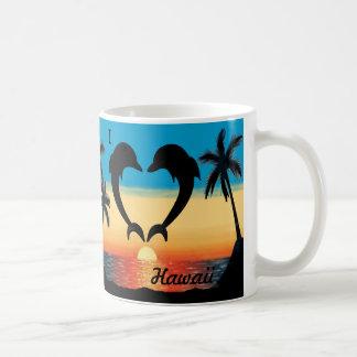 Mug I palmiers de coucher du soleil d'océan de
