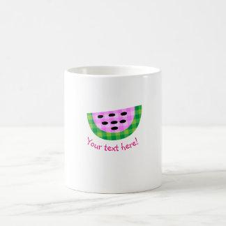 Mug Icône au néon délicieuse de tranche de pastèque de