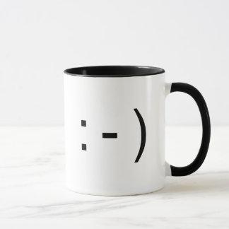 Mug Icône heureuse de sourire des textes d'émoticône