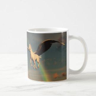 Mug Il effiloche avec l'image d'un cheval à ailes en