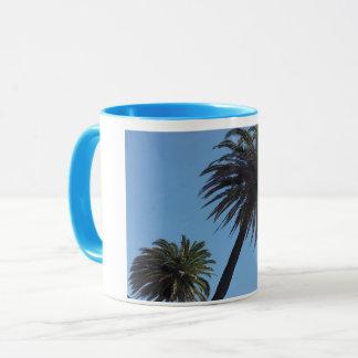 Mug Il effiloche palmier bleu