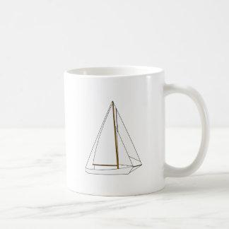 Mug Illustration de voilier de coupeur