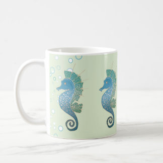 Mug Illustration d'hippocampe