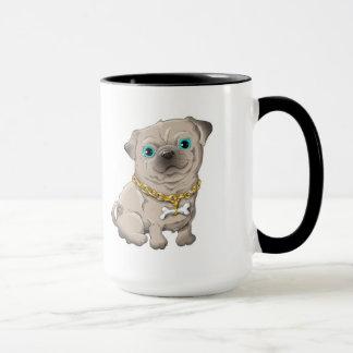 Mug Illustration d'un carlin mignon de chien