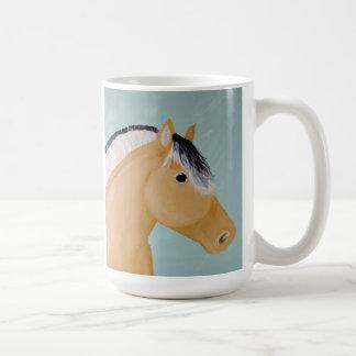 Mug Illustration norvégienne de cheval de fjord sur la