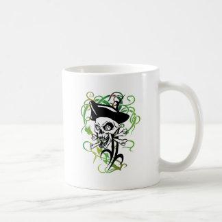 Mug Illustration squelettique de style de tatouage de