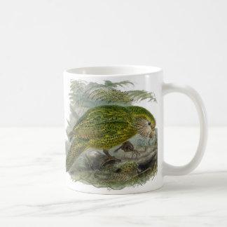 Mug Illustration verte de cru de perroquet de Kakapo