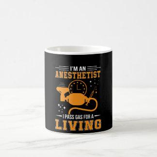 Mug Im anesthésiste je passe le gaz pour la chemise