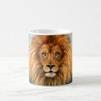 Mug Image d'art de peinture de photographie de lion