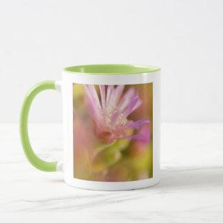 Mug Image diffuse d'une fleur succulente colorée