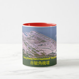 Mug Image panoramique d'aéroport de Hong Kong