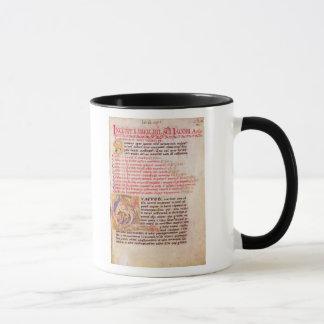 """Mug Initiale """"Q"""" de Historiated dépeignant trois"""
