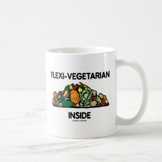 Mug Intérieur de Flexi-Végétarien (pile des légumes)