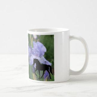 Mug Iris bleu de marche TWH du cheval TWH du Tennessee