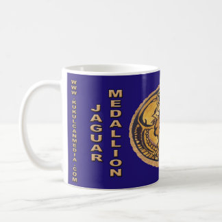 MUG JAGUAR MAYA MEDALLION-DARK CANCUN BLEU MEXIQUE