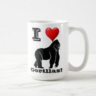 Mug J'aime des gorilles