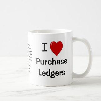 Mug J'aime des registres des achats - le triple a