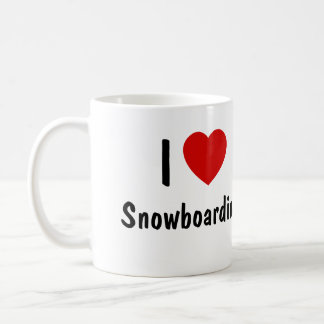 Mug J'aime faire du surf des neiges