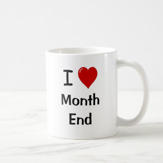 Mug J'aime la fin du mois - citation drôle de