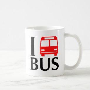 Mug J'aime l'amour de l'autobus | I l'autobus de