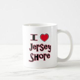 Mug J'aime le rouge de rivage de jersey